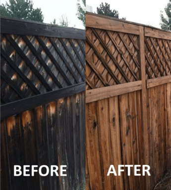 power washed fence