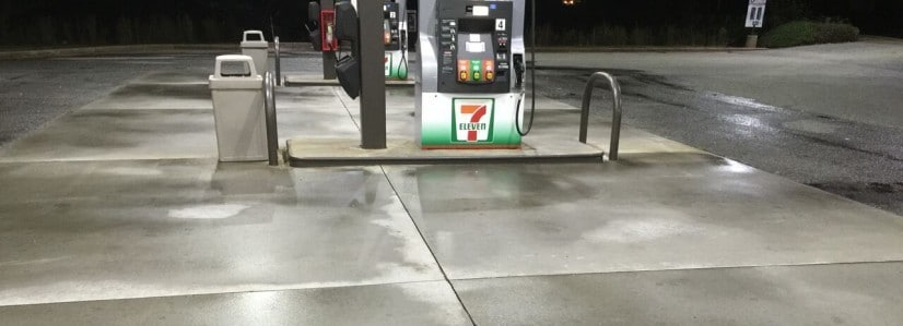 gas station that was power washed
